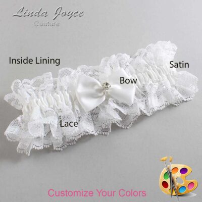 Couture Garters / Custom Wedding Garter / Customizable Wedding Garters / Personalized Wedding Garters / Melba #11-B21-M04 / Wedding Garters / Bridal Garter / Prom Garter / Linda Joyce Couture