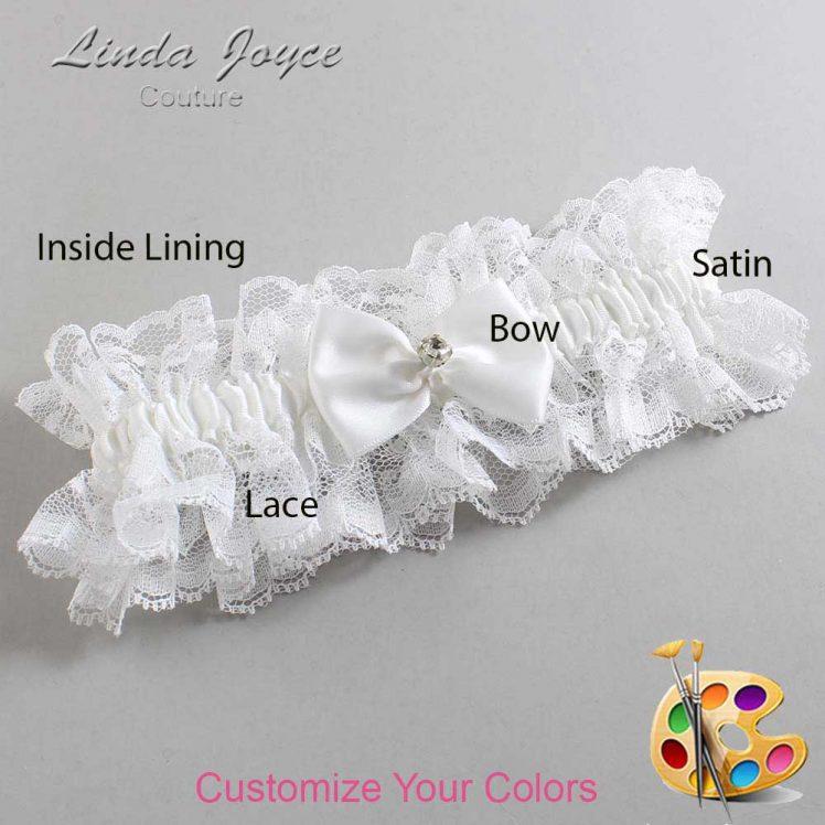 Couture Garters / Custom Wedding Garter / Customizable Wedding Garters / Personalized Wedding Garters / Melba #11-B21-M04 / Wedding Garters / Bridal Garter / Prom Garter / Linda Joyce Couture