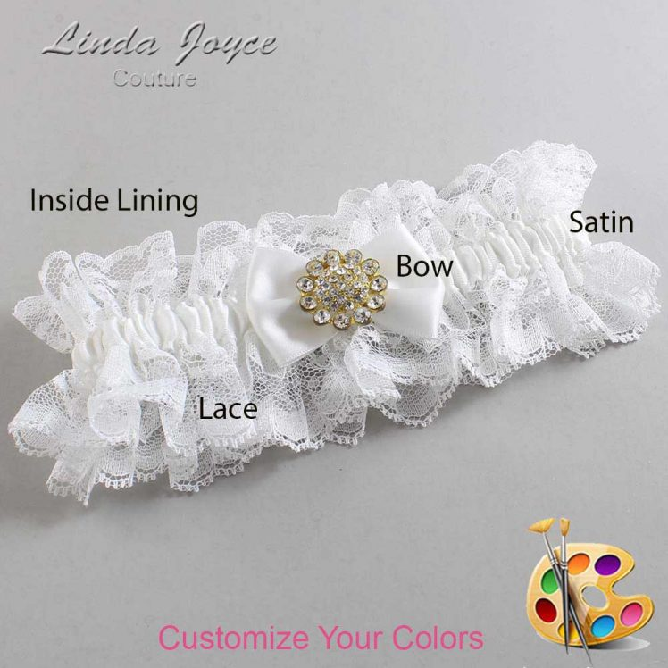 Couture Garters / Custom Wedding Garter / Customizable Wedding Garters / Personalized Wedding Garters / Carrie #11-B21-M12 / Wedding Garters / Bridal Garter / Prom Garter / Linda Joyce Couture