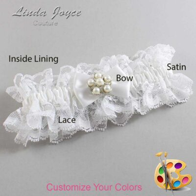 Couture Garters / Custom Wedding Garter / Customizable Wedding Garters / Personalized Wedding Garters / Deanna #11-B21-M13 / Wedding Garters / Bridal Garter / Prom Garter / Linda Joyce Couture