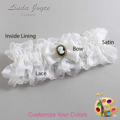 Couture Garters / Custom Wedding Garter / Customizable Wedding Garters / Personalized Wedding Garters / Brooke #11-B21-M15 / Wedding Garters / Bridal Garter / Prom Garter / Linda Joyce Couture