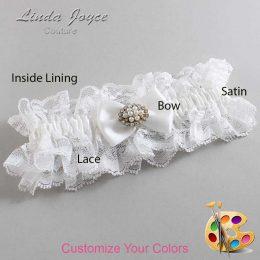 Customizable Wedding Garter / Annika #11-B21-M16-Gold