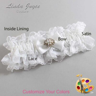 Couture Garters / Custom Wedding Garter / Customizable Wedding Garters / Personalized Wedding Garters / Annika #11-B21-M16 / Wedding Garters / Bridal Garter / Prom Garter / Linda Joyce Couture