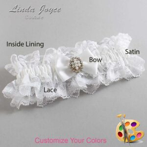 Couture Garters / Custom Wedding Garter / Customizable Wedding Garters / Personalized Wedding Garters / Betty #11-B21-M17 / Wedding Garters / Bridal Garter / Prom Garter / Linda Joyce Couture