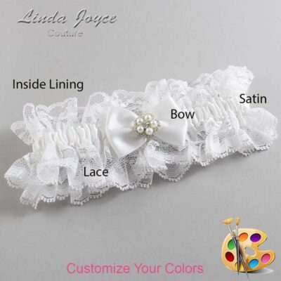 Couture Garters / Custom Wedding Garter / Customizable Wedding Garters / Personalized Wedding Garters / Britney #11-B21-M20 / Wedding Garters / Bridal Garter / Prom Garter / Linda Joyce Couture