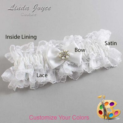 Couture Garters / Custom Wedding Garter / Customizable Wedding Garters / Personalized Wedding Garters / Alexia #11-B21-M23 / Wedding Garters / Bridal Garter / Prom Garter / Linda Joyce Couture