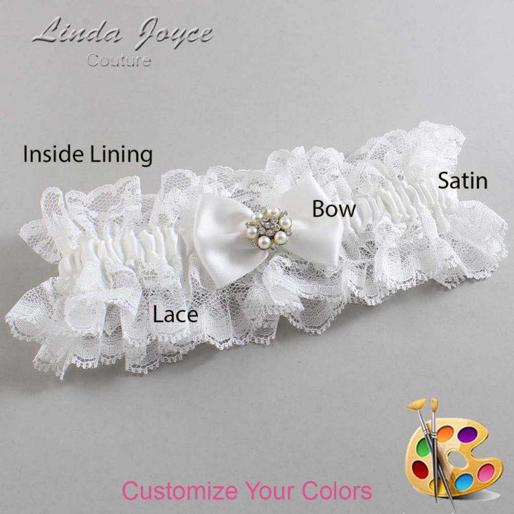 Couture Garters / Custom Wedding Garter / Customizable Wedding Garters / Personalized Wedding Garters / Alexia #11-B21-M23 / Wedding Garters / Bridal Garter / Prom Garter / Linda Joyce Couture