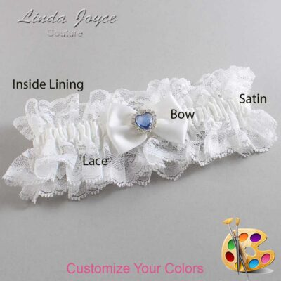 Couture Garters / Custom Wedding Garter / Customizable Wedding Garters / Personalized Wedding Garters / Alice #11-B21-M25 / Wedding Garters / Bridal Garter / Prom Garter / Linda Joyce Couture