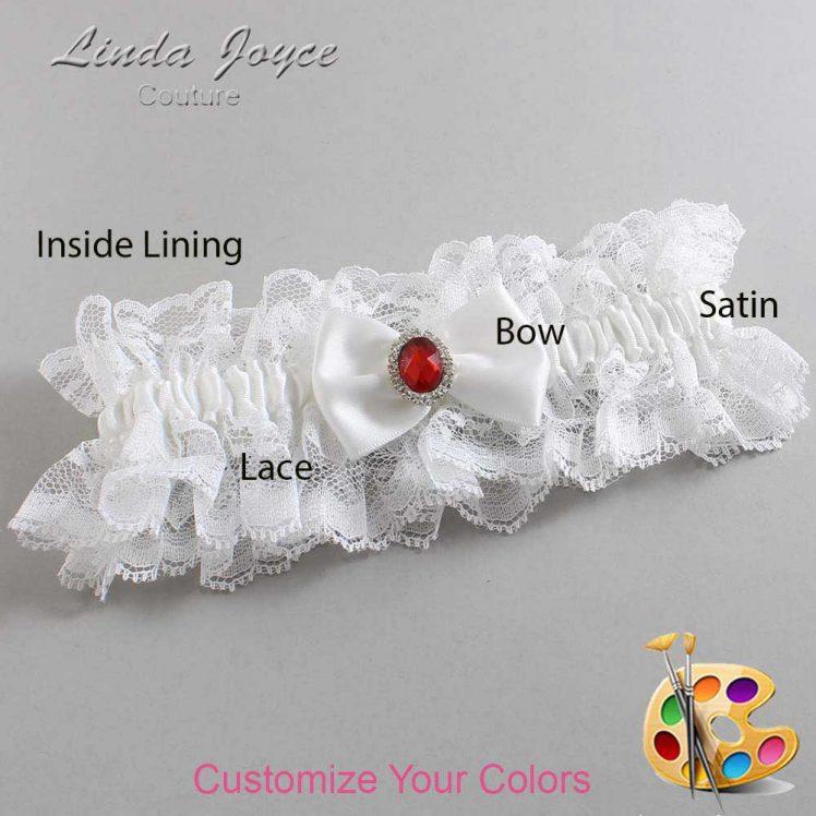 Couture Garters / Custom Wedding Garter / Customizable Wedding Garters / Personalized Wedding Garters / Lesley #11-B21-M26 / Wedding Garters / Bridal Garter / Prom Garter / Linda Joyce Couture
