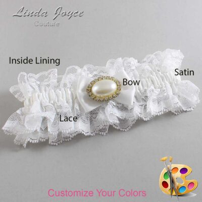 Couture Garters / Custom Wedding Garter / Customizable Wedding Garters / Personalized Wedding Garters / Bernie #11-B21-M28 / Wedding Garters / Bridal Garter / Prom Garter / Linda Joyce Couture