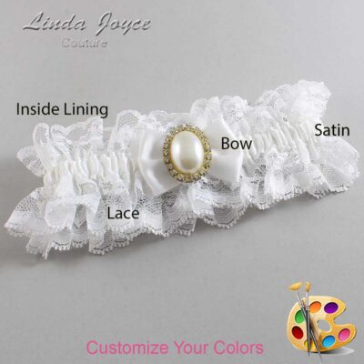 Customizable Wedding Garter / Chelsea #11-B21-M29-Gold