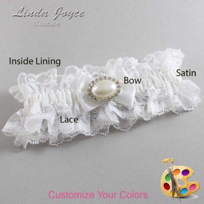 Couture Garters / Custom Wedding Garter / Customizable Wedding Garters / Personalized Wedding Garters / Bernie #11-B21-M30 / Wedding Garters / Bridal Garter / Prom Garter / Linda Joyce Couture