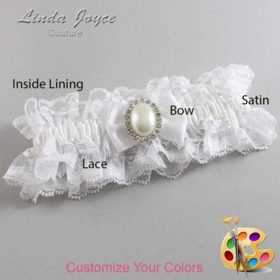 Couture Garters / Custom Wedding Garter / Customizable Wedding Garters / Personalized Wedding Garters / Chelsea #11-B21-M31 / Wedding Garters / Bridal Garter / Prom Garter / Linda Joyce Couture