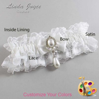 Couture Garters / Custom Wedding Garter / Customizable Wedding Garters / Personalized Wedding Garters / Afton #11-B21-M32 / Wedding Garters / Bridal Garter / Prom Garter / Linda Joyce Couture