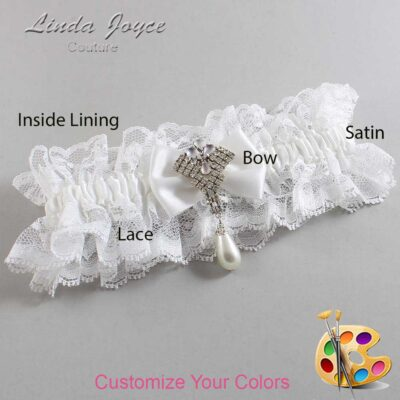 Couture Garters / Custom Wedding Garter / Customizable Wedding Garters / Personalized Wedding Garters / Constance #11-B21-M33 / Wedding Garters / Bridal Garter / Prom Garter / Linda Joyce Couture