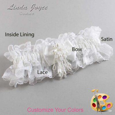 Couture Garters / Custom Wedding Garter / Customizable Wedding Garters / Personalized Wedding Garters / Lori #11-B21-M38 / Wedding Garters / Bridal Garter / Prom Garter / Linda Joyce Couture
