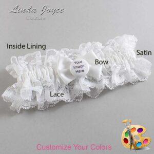 Couture Garters / Custom Wedding Garter / Customizable Wedding Garters / Personalized Wedding Garters / Custom Button #11-B21-M44 / Wedding Garters / Bridal Garter / Prom Garter / Linda Joyce Couture