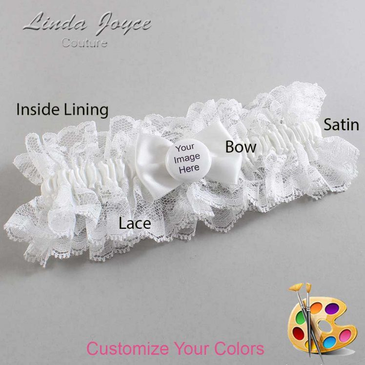 Couture Garters / Custom Wedding Garter / Customizable Wedding Garters / Personalized Wedding Garters / Custom Button #11-B21-M44 / Wedding Garters / Bridal Garter / Prom Garter / Linda Joyce Couture