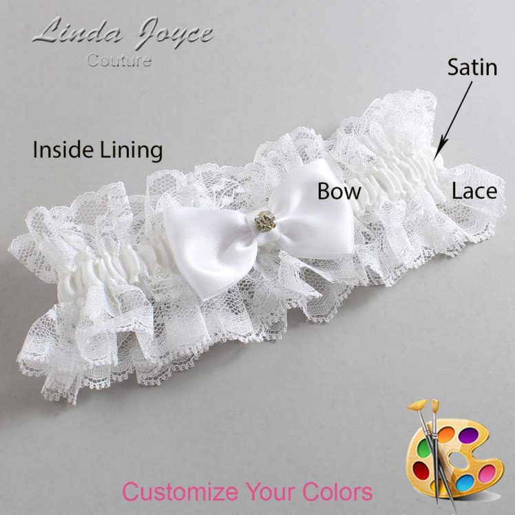 Couture Garters / Custom Wedding Garter / Customizable Wedding Garters / Personalized Wedding Garters / Jodi #11-B29-M03 / Wedding Garters / Bridal Garter / Prom Garter / Linda Joyce Couture