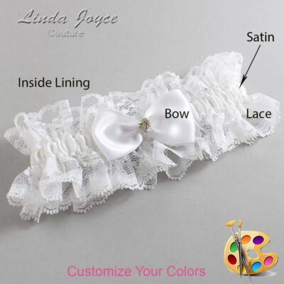 Couture Garters / Custom Wedding Garter / Customizable Wedding Garters / Personalized Wedding Garters / Melody #11-B31-M03 / Wedding Garters / Bridal Garter / Prom Garter / Linda Joyce Couture