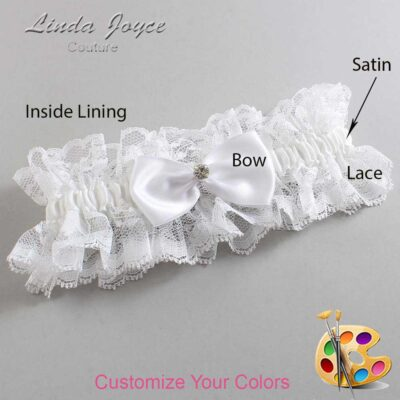 Couture Garters / Custom Wedding Garter / Customizable Wedding Garters / Personalized Wedding Garters / Melody #11-B31-M04 / Wedding Garters / Bridal Garter / Prom Garter / Linda Joyce Couture