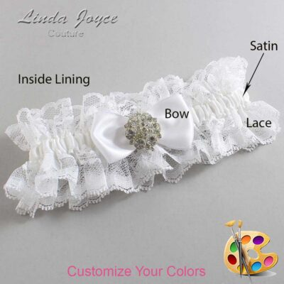 Couture Garters / Custom Wedding Garter / Customizable Wedding Garters / Personalized Wedding Garters / Michelle #11-B31-M11 / Wedding Garters / Bridal Garter / Prom Garter / Linda Joyce Couture