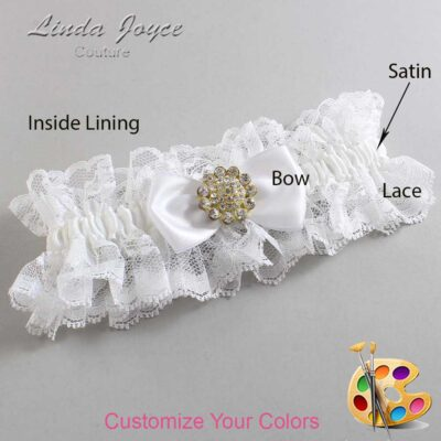 Couture Garters / Custom Wedding Garter / Customizable Wedding Garters / Personalized Wedding Garters / Loretta #11-B31-M12 / Wedding Garters / Bridal Garter / Prom Garter / Linda Joyce Couture