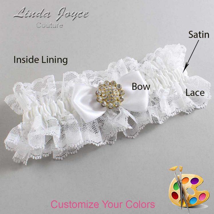 Couture Garters / Custom Wedding Garter / Customizable Wedding Garters / Personalized Wedding Garters / Loretta #11-B31-M12 / Wedding Garters / Bridal Garter / Prom Garter / Linda Joyce Couture
