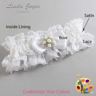 Couture Garters / Custom Wedding Garter / Customizable Wedding Garters / Personalized Wedding Garters / Loriann #11-B31-M13 / Wedding Garters / Bridal Garter / Prom Garter / Linda Joyce Couture