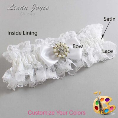 Couture Garters / Custom Wedding Garter / Customizable Wedding Garters / Personalized Wedding Garters / Lollie #11-B31-M14 / Wedding Garters / Bridal Garter / Prom Garter / Linda Joyce Couture