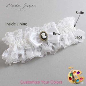 Couture Garters / Custom Wedding Garter / Customizable Wedding Garters / Personalized Wedding Garters / Krista #11-B31-M15 / Wedding Garters / Bridal Garter / Prom Garter / Linda Joyce Couture
