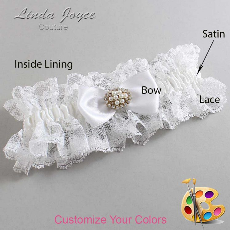 Couture Garters / Custom Wedding Garter / Customizable Wedding Garters / Personalized Wedding Garters / Kathy #11-B31-M16 / Wedding Garters / Bridal Garter / Prom Garter / Linda Joyce Couture