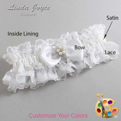 Couture Garters / Custom Wedding Garter / Customizable Wedding Garters / Personalized Wedding Garters / Laureen #11-B31-M20 / Wedding Garters / Bridal Garter / Prom Garter / Linda Joyce Couture