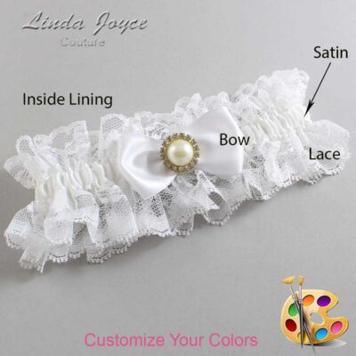 Couture Garters / Custom Wedding Garter / Customizable Wedding Garters / Personalized Wedding Garters / Kendra #11-B31-M21 / Wedding Garters / Bridal Garter / Prom Garter / Linda Joyce Couture