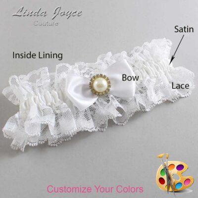 Couture Garters / Custom Wedding Garter / Customizable Wedding Garters / Personalized Wedding Garters / Kendra #11-B31-M21 / Wedding Garters / Bridal Garter / Prom Garter / Linda Joyce Couture