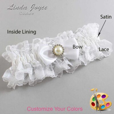 Customizable Wedding Garter / Kendra #11-B31-M22-Silver