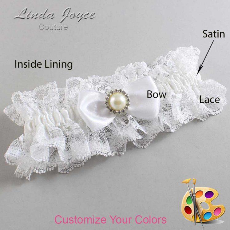 Couture Garters / Custom Wedding Garter / Customizable Wedding Garters / Personalized Wedding Garters / Kendra #11-B31-M22 / Wedding Garters / Bridal Garter / Prom Garter / Linda Joyce Couture