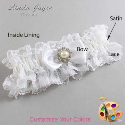 Couture Garters / Custom Wedding Garter / Customizable Wedding Garters / Personalized Wedding Garters / Louise #11-B31-M24 / Wedding Garters / Bridal Garter / Prom Garter / Linda Joyce Couture