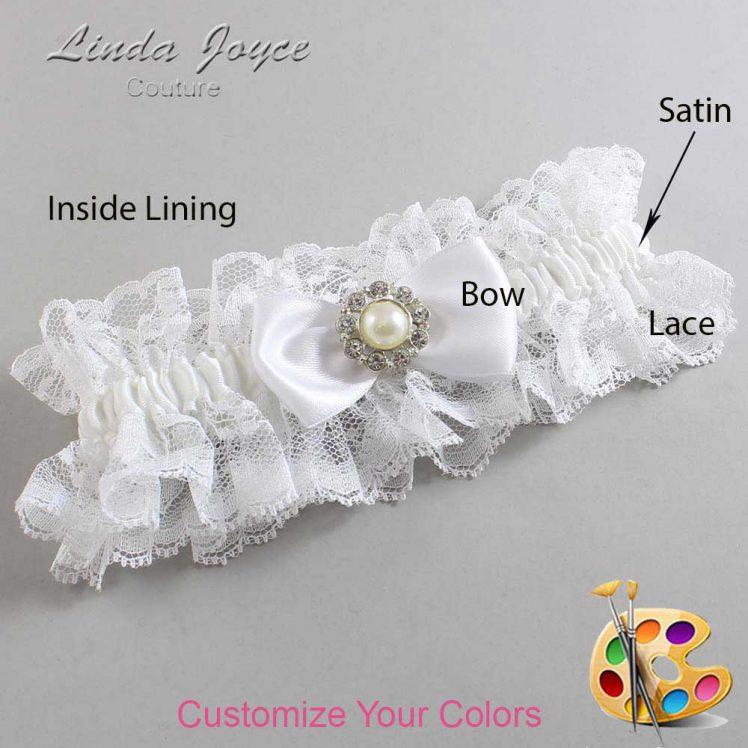 Couture Garters / Custom Wedding Garter / Customizable Wedding Garters / Personalized Wedding Garters / Louise #11-B31-M24 / Wedding Garters / Bridal Garter / Prom Garter / Linda Joyce Couture