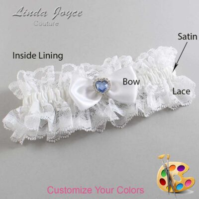 Couture Garters / Custom Wedding Garter / Customizable Wedding Garters / Personalized Wedding Garters / Judy #11-B31-M25 / Wedding Garters / Bridal Garter / Prom Garter / Linda Joyce Couture