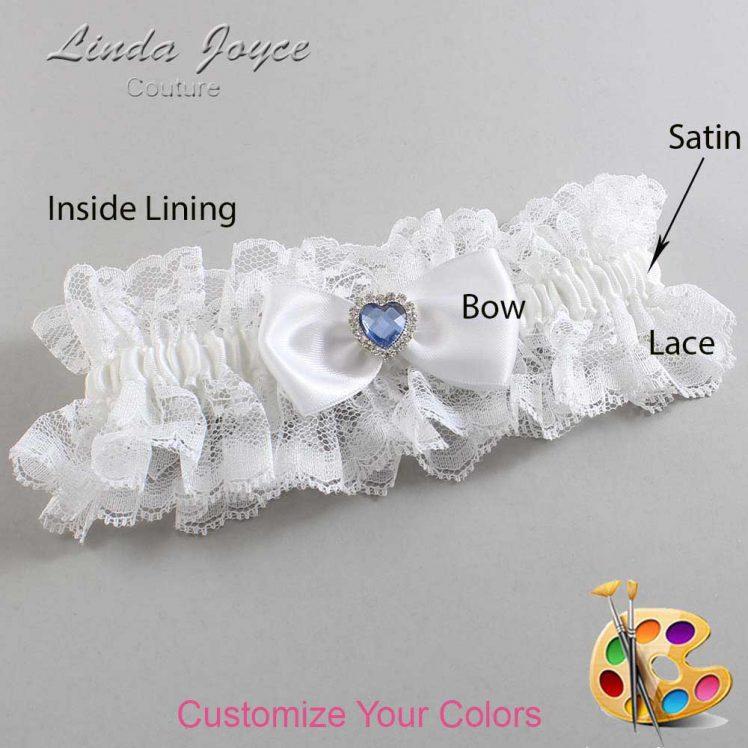 Couture Garters / Custom Wedding Garter / Customizable Wedding Garters / Personalized Wedding Garters / Judy #11-B31-M25 / Wedding Garters / Bridal Garter / Prom Garter / Linda Joyce Couture