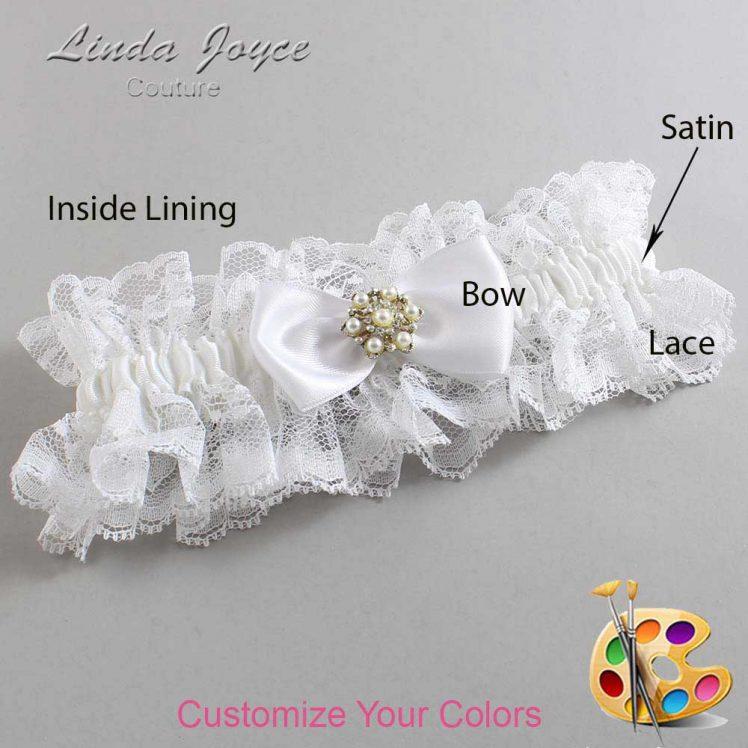 Couture Garters / Custom Wedding Garter / Customizable Wedding Garters / Personalized Wedding Garters / Melissa #11-B31-M27 / Wedding Garters / Bridal Garter / Prom Garter / Linda Joyce Couture