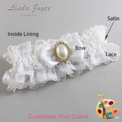 Customizable Wedding Garter / Mindy #11-B31-M29-Gold