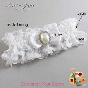 Couture Garters / Custom Wedding Garter / Customizable Wedding Garters / Personalized Wedding Garters / Mindy #11-B31-M31 / Wedding Garters / Bridal Garter / Prom Garter / Linda Joyce Couture