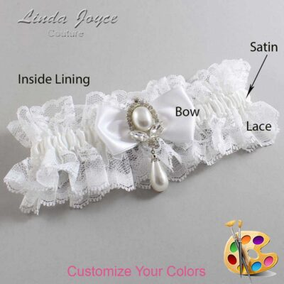Couture Garters / Custom Wedding Garter / Customizable Wedding Garters / Personalized Wedding Garters / Joan #11-B31-M32 / Wedding Garters / Bridal Garter / Prom Garter / Linda Joyce Couture