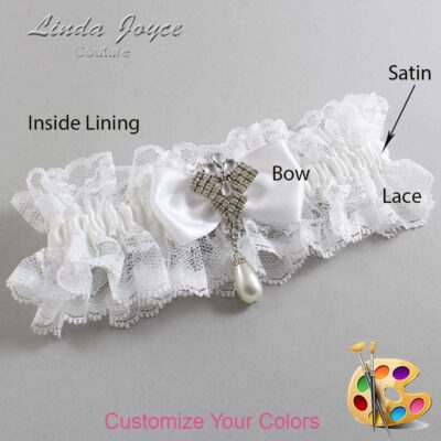 Couture Garters / Custom Wedding Garter / Customizable Wedding Garters / Personalized Wedding Garters / Mavis #11-B31-M33 / Wedding Garters / Bridal Garter / Prom Garter / Linda Joyce Couture