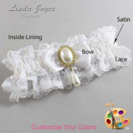 Customizable Wedding Garter / Meghan #11-B31-M34-Gold