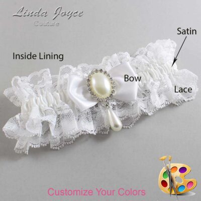 Couture Garters / Custom Wedding Garter / Customizable Wedding Garters / Personalized Wedding Garters / Meghan #11-B31-M35 / Wedding Garters / Bridal Garter / Prom Garter / Linda Joyce Couture