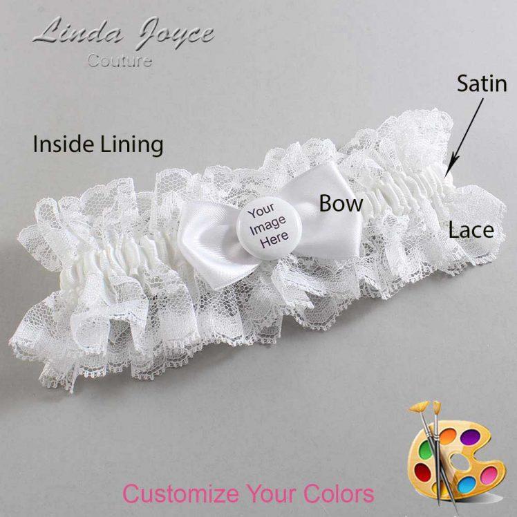 Couture Garters / Custom Wedding Garter / Customizable Wedding Garters / Personalized Wedding Garters / Custom Button #11-B31-M44 / Wedding Garters / Bridal Garter / Prom Garter / Linda Joyce Couture
