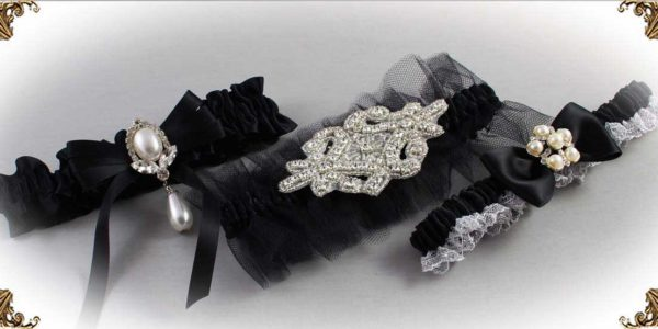 Black Wedding Garters